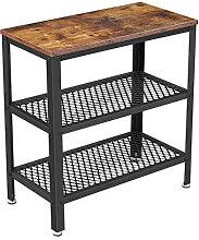Table d'appoint marron rustique avec deux