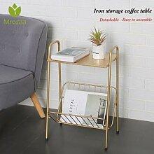 Table d'appoint moderne pour café, dorée,
