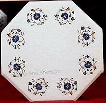 Table d'appoint octogonale avec mosaïque