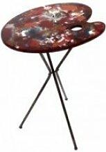 Table d'appoint palette peinture art de fer