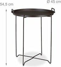 Table d'appoint plateau amovible helloshop26