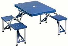Table d'appoint pliante valise pique-nique