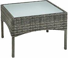 Table d'appoint Polyrattan Table de jardin