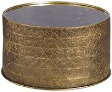 Table d'appoint ronde doré métal/miroir -