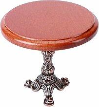 Table d'appoint ronde en bois miniature