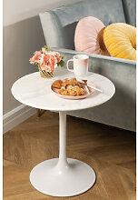 Table d'appoint ronde en marbre (Ø50 cm) Tuhl