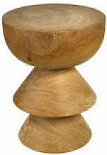Table d'appoint Skirt / Bois sculpté main -