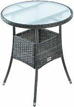 Table d'appoint Table de jardin en polyrattan
