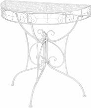 Table d'appoint Vintage Demi-ronde Métal