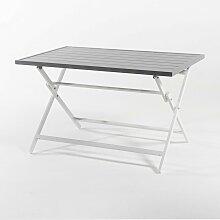 Table d'extérieur pliante carrée en