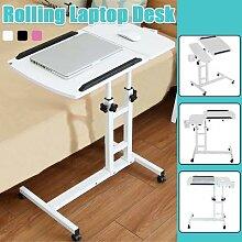 Table d'ordinateur pivotante, meuble à