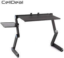 Table d'ordinateur réglable et pliable,