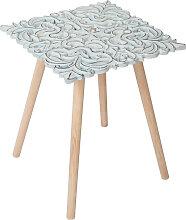 Table d appoint Carrée Patron 40 x 40 cm - Blanc