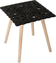 Table d appoint Carrée Patron 40 x 40 cm - Noir