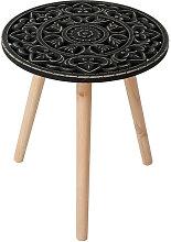 Table d appoint Patron Noir 50xDN40CM