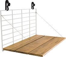Table de balcon à accrocher blanc