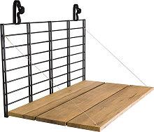 Table de balcon à accrocher noir