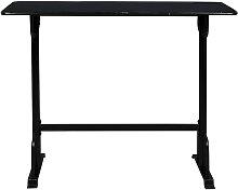 Table de bar 140x50cm noir