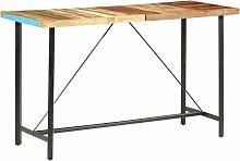 Table de bar 180x70x107 cm Bois de récupération
