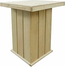 Table de bar 75x75x110 cm Pin imprégné