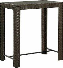 Table de bar de jardin Marron 100x60,5x110,5 cm