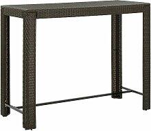Table de bar de jardin Marron 140,5x60,5x110,5cm