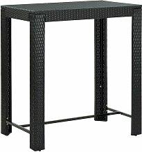Table de bar de jardin Noir 100x60,5x110,5 cm