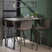 Table de bar haute couleur béton et métal GARRY