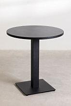 Table DE BAR Ronde (Ø69 cm) Poussin Noir Sklum