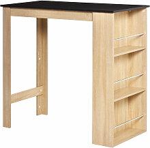 Table de bar table haute de cuisine avec rangement