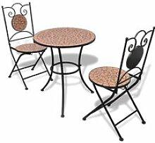 Table de bistro 60 cm et 2 chaises Mosaïqué