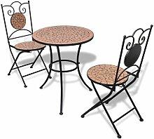 Table De Bistro 60 Cm Et 2 Chaises Mosaique Terre