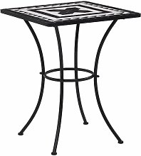 Table de bistro mosaïque Noir et blanc 60