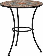 Table de bistro mosaïque Orange/gris 60 cm