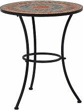 Table de bistro mosaique Orange/gris 60 cm