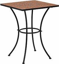 Table de bistro mosaïque Terre cuite 60