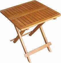 Table de bistrot extérieure bois acacia huilé