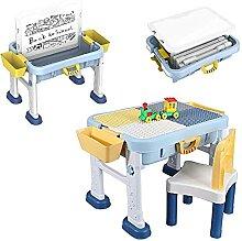 Table De Bloc De Construction avec 2 Boîtes de
