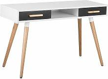 Table de bureau blanche grise FRISCO