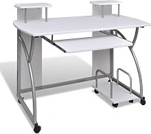 Table de Bureau Blanche pour Ordinateur avec