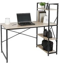 Table de bureau en bois et acier Style industriel