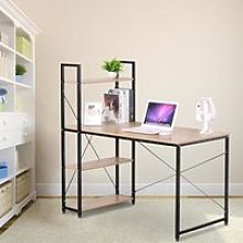 Table de bureau en bois et acier Table d'