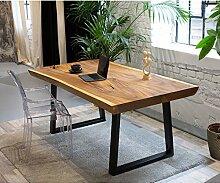 Table de Bureau en Bois Massif - Table en Bois