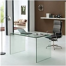 Table de bureau en verre