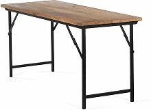 Table de bureau pliante Ulcan SKLUM Bois - Acier