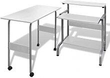 Table de bureau réglable blanche pour ordinateur