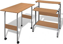 Table de bureau réglable brun pour ordinateur