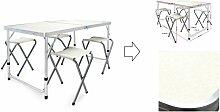 Table de camping aluminium pliante + 4 chaises