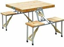 Table de camping jardin pique-nique pliante en