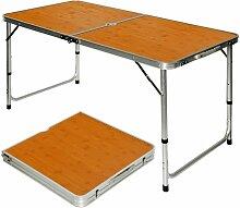 Table de camping pique-nique pliable réglable en